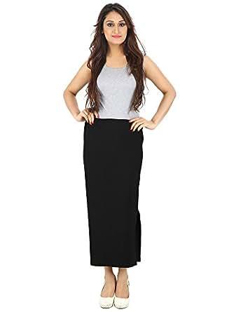 FRANCLO Women's Formal Skirt (30-34) (Black)