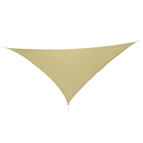 10T Emerson Dreieck Tarp 5m Sonnensegel wetterbeständig, atmungsaktiv, 90% UV Schutz, Sonnenschirm -