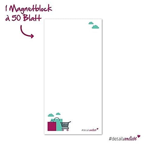 Detailverliebt! Ein praktischer Einkaufsblock mit magnetischer Rückwand, dv_169 – Im