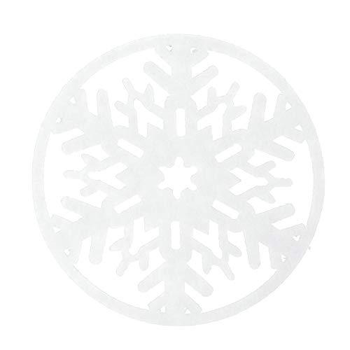 Schneeflocke Cup Coaster Kissen Tischset Pad Dekorationen Home Weihnachten Weihnachtsdekoration Handwerk Geschenk Weihnachtsdeko Idea Weihnachtskrippe Aus Mit Bunten Spielfiguren (weiß,Freie Größe)