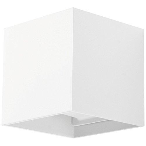 Applique Murale Blanche Cube Led Lampe En Cube Pour Mur Avec Angle D