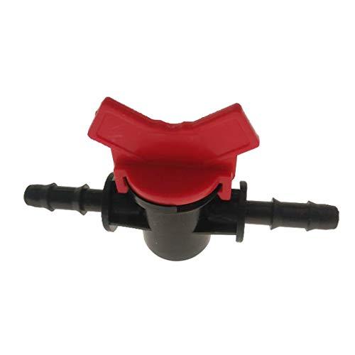 B Blesiya Aquarium Regelventil Wasser Durchflussregler Hebelventil für 4mm/8mm/10mm/12mm Wasserschlauch - rot, 4mm -