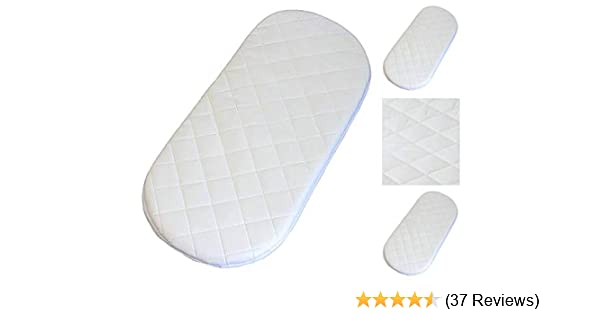 79 X 33 X 3.5 cm Fully Breathable Quilted Toddler Moses Basket MATTRESSES//PRAM Oval Shaped Baby Moses Basket Foam Mattress Bassinet Baby PRAM Oval