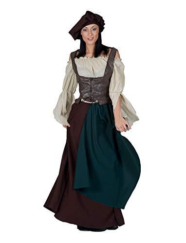 Nerd Clear Bauernfrau Kostüm | Farmer Lady Karneval | für Frauen Größe 40-42 (Women's Bauern Kostüm)