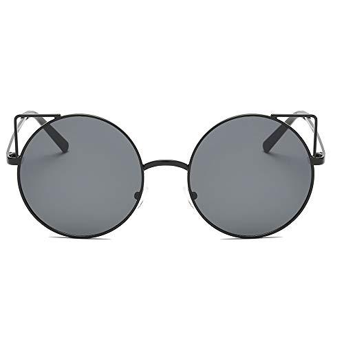 REALIKE Unisex Sonnenbrille Mode Neon Farben klare Linse Gläser Metall Brillengestell High-Mode Hohl Katzenohren Brille Sunglasses Mehrfache Farbauswahl Cat-Eye Travel Eyewear