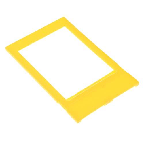 P prettyia 3 pollici cornice foto supporto da tavolo verticale da tavolo mini per fotocamere istantanee - giallo
