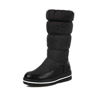 Rtry Chaussures Comfort Bottes Automne Hiver En Mousseline De Soie Skaï Vêtements Décontractés Liane Noir Bleu 1a-1 3 / 4dans Us9 / Eu40 / Uk7 / Cn41