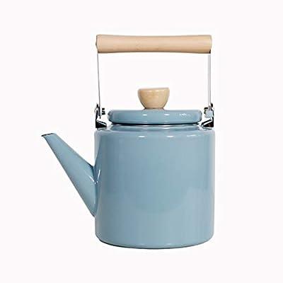 FYJK Thé émaillé Bouilloire émaillée Bouilloire sifflante épaississante appelée Pot Kettle Théière à gaz Emailleur émaillé Traditionnel Casserole à thé National Lait Théière Bouilloire
