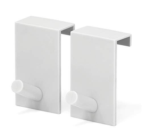 relibo Flipchart Türhaken - platzsparende & mobile Alternative zum Flipchart Ständer | intelligente Lösung zum Aufhängen von Flipchart-Papier | Weiß (2x)