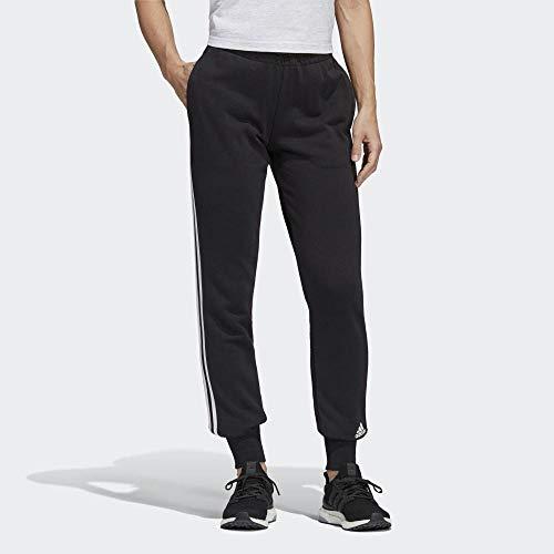 adidas Damen Must Haves 3-Streifen Trainingshose, Black/White, L