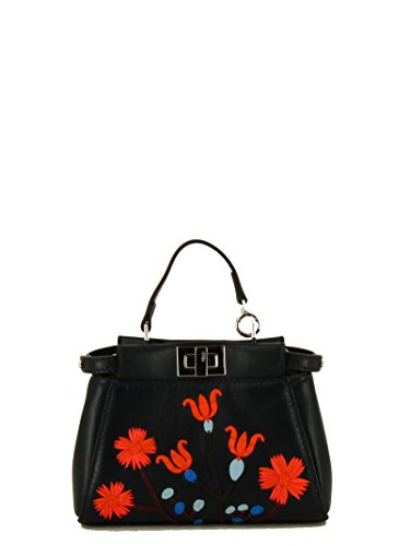 Fendi Damen 8M0355sgaf06qs-Mcf Schwarz Leder Handtaschen