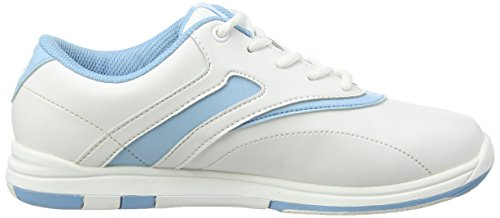 Brunswick, Silk - Scarpe da bowling, donna Bianco - Bianco/Blu