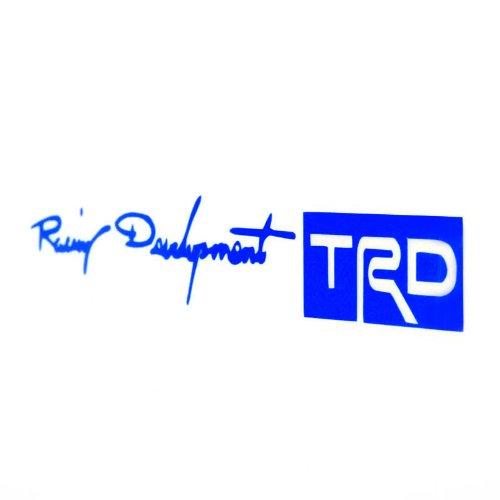 Kingzer 4 X RACING DEVELOPMENT TRD AUTO/LKW-TÜRGRIFF-AUFKLEBER, BLAU