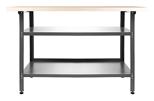 Ondis24 Montagewerkbank Packtisch TÜV/GS, Werkstatteinrichtung Werkstatt Werkbank Werktisch Packtisch Basic mit höhenverstellbaren Füßen