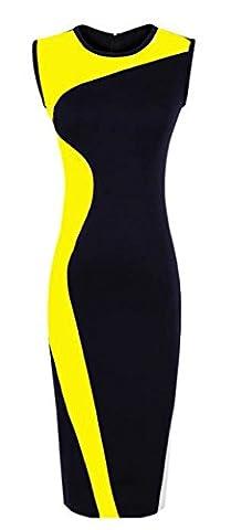 Good dress Zweifarbige mosaik - NORDAMERIKA - kleid,Gelb,XXL