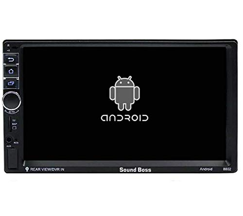 Sound Boss Android 2Din 7''Ultra HD Capacitive Touchscreen GPS Navigation AM/FM Radio Audio Receiver Support Mirrorlink/WiFi/1080P Video Car Stereo