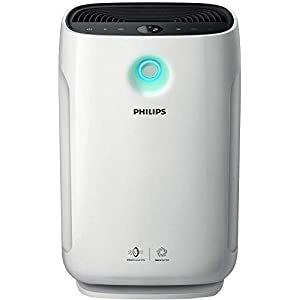 Philips Series 2000i Connected Air Purifier, Removes 99.97% of Ultrafine Particles, Real Time Air Quality Feedback, Anti-Allergen, Reduces Odours and Gases, HEPA and Active Carbon Filters, AC2889/60