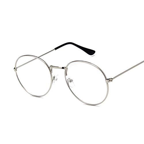 QDE Sonnenbrillen Gelbe Rote Runde Sonnenbrille Für Frauen Spiegeln Retro-Damen Kleine Sonnenbrille Frauen, Silber Wider