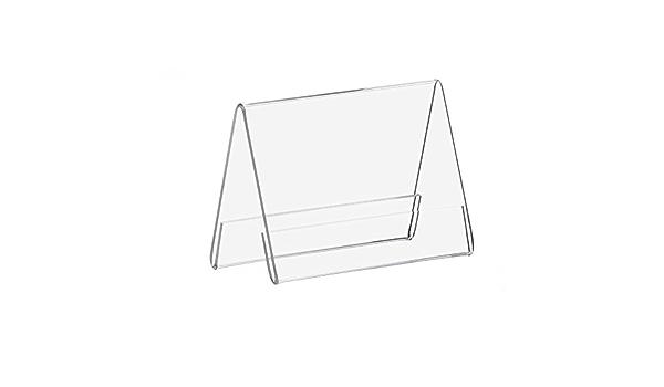 5er Pack L Prospekthalter DIN A7 Hochformat Werbeaufsteller Tischaufsteller aus Acryl