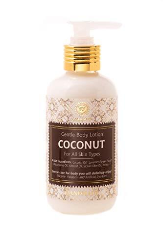 Body-lotion Naturkosmetik, Weiche feuchte Haut, Zartweich, gepflegtes Gefühl und langer Duft, Vegan, Bio-Extrakte (Kokos)