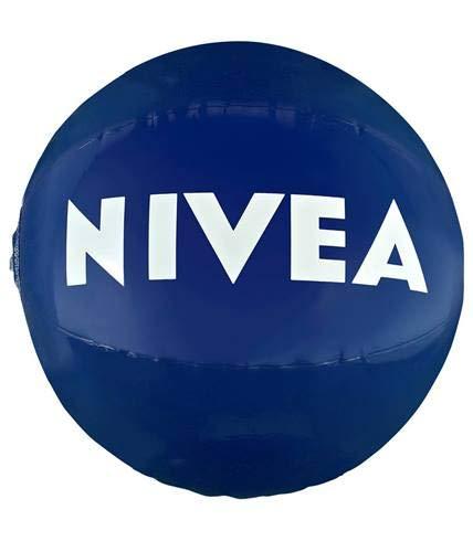 NIVEA Wasserball, aufblasbar, wasserabweisend, sonnenbeständig, stabil, Sommerball und Strandball, One Size, Durchmesser 30 cm, 1 x Ball, Wasserspaß für Kinder und Erwachsene