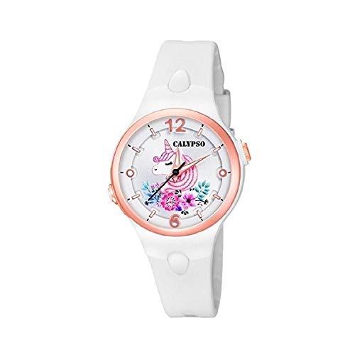 Reloj Unicornio Chica Caucho Blanco Calypso