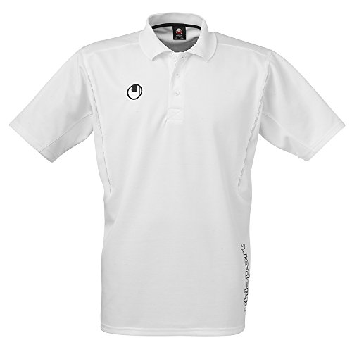 Uhlsport-Polo da allenamento, Unisex, Poloshirt Training, bianco, XL