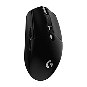 Logitech G305 kabellose Gaming-Maus mit Hero Sensor (12'000 DPI, leicht, PC-Gaming, einstellbar mit 6 programmierbaren Tasten, Lange Akkulaufzeit, kompatibel mit Windows, Mac und Chrome OS