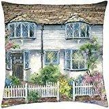April Cottage Teas - Throw Pillow Cover Case (18 - April Cottage