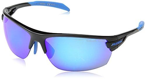 Alpina Unisex Sportbrille Tri-Scray, black-cyan, A8479335