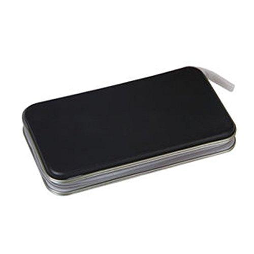 Leder Dvd-rack (Samtlan 80pcs DVD/CD Speicherorganisator Tasche CD Carry DVD/CD Disc Wallets Kunststoff Tragbar zum Heimgebrauch)