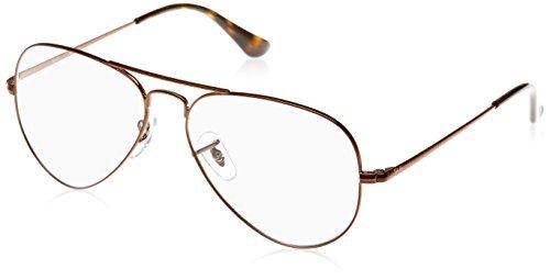 Ray-Ban Rayban Unisex-Erwachsene Brillengestell Aviator, Braun (Light Brown), 55