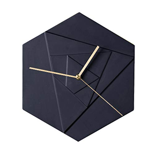 orologio Orologio Da Parete Europeo - Orologio Da Parete In Ceramica - Orologio Da Parete Esagonale - Stile Giapponese - Soggiorno - Camera Da Letto - Decorazione Creativa - Regalo Per Adulti (26x30