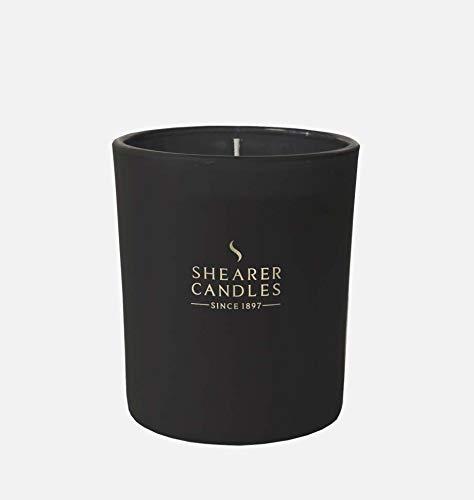 Shearer Candles Duftkerze im Glas, Paraffinwachs, Baumwolldocht, Duftöl, Glas, Metall, Schwarz, Gold, 82 mm -