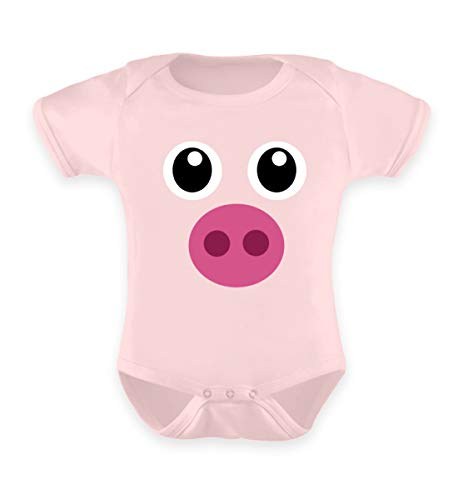 ALBASPIRIT Pinkes Schweinchen T-Shirt Halloween Süßes Schwein Geschenk - Baby Body
