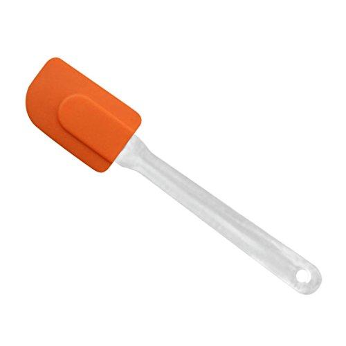 Solar Butter (sunnymi Mehrzweck-Kuchen Sahne Spatel/Silikon Küche Haushalt/Mischen Schaber Bürsten Butter Backen Werkzeug 24 cmX5cm (Orange))