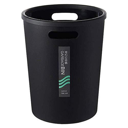 Hyzb Abfalleimer Korb Kunststoff mit Handgriff Small Office Bin aus schlagfestem Kunststoff Praktische Aufbewahrungsbox for Badezimmer-Küche oder Pantry ohne Deckel Mülleimern Sturdy -