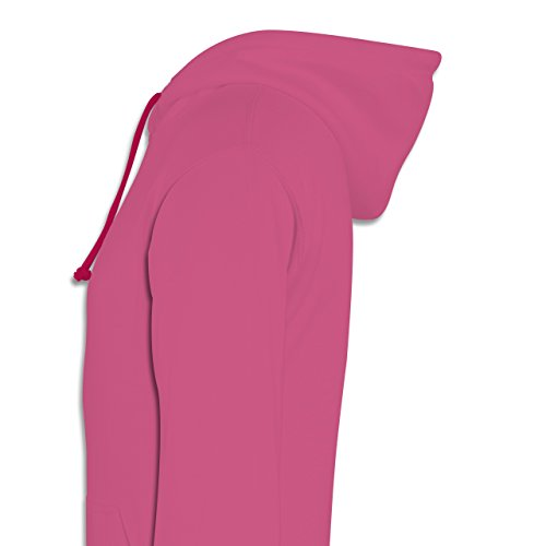Statement Shirts - I'm so lucky to have you - Kontrast Hoodie Rosa/Fuchsia