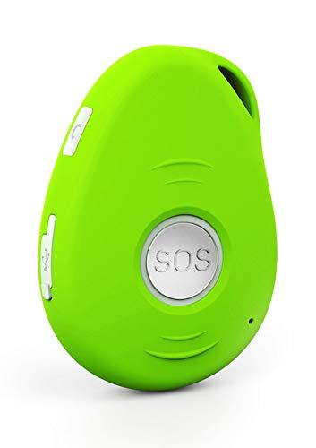 oppla' Sistema con Chiamata di Emergenza e Telesoccorso per Anziani con GSM e GPS con Base di Ricarica (Verde)