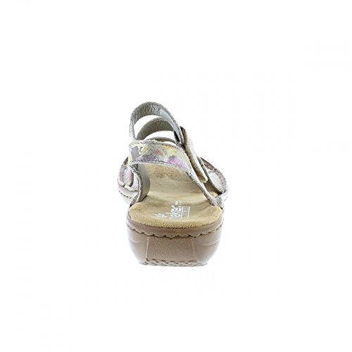 RIEKER Rieker Ladies Sandal 608B1-90 Multi Multicolor
