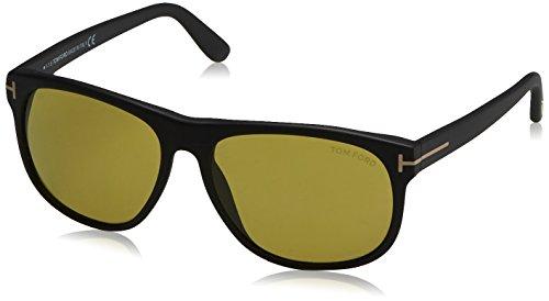 Tom Ford Herren FT0236 02N 58 Sonnenbrille, Schwarz (Nero Opaco/Verde),