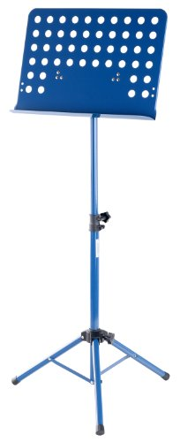 Classic Cantabile Metall Orchesterpult Blau (Lochpult Notenständer, Höhe 58 bis 100 cm einstellbar, Maße der Ablage: 50,0 x 34,8 x 4,5 cm)