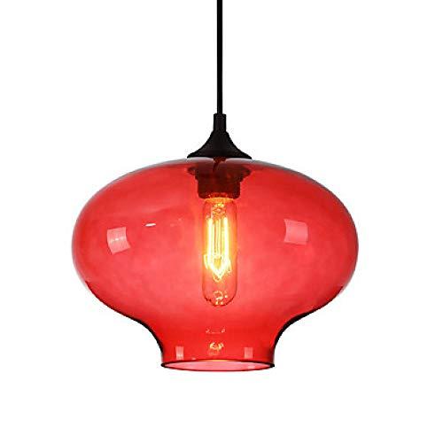 Nordic Glas Kronleuchter einfache Ausstellung Restaurant Cafe Bar Lampe einzigen Kopf transparente Kugel @ Amber -