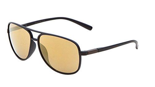 Sport Aviator Sonnenbrille Farbe Spiegel Objektiv Active Lifestyle Herren Frauen Eyewear, gold