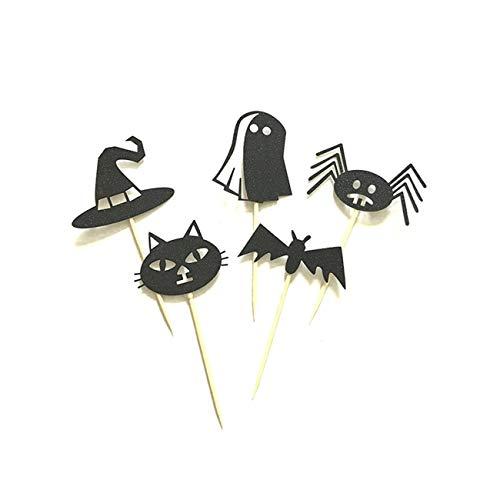 Jiobapiongxin 5pcs Halloween Vampir Kuchen Topper Halloween Cupcakes Fahnen