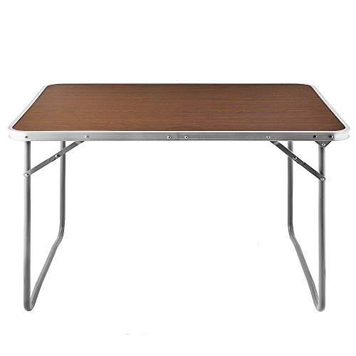 Deuba Alu Campingtisch Tisch Holzoptik Gartentisch Beis… | 04250525310481