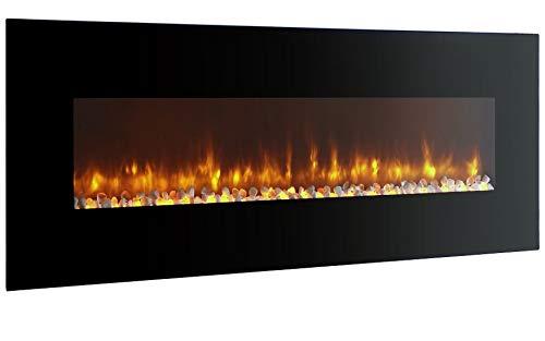 breakling 053chimenea eléctrica, negra, 120x 12x 55cm