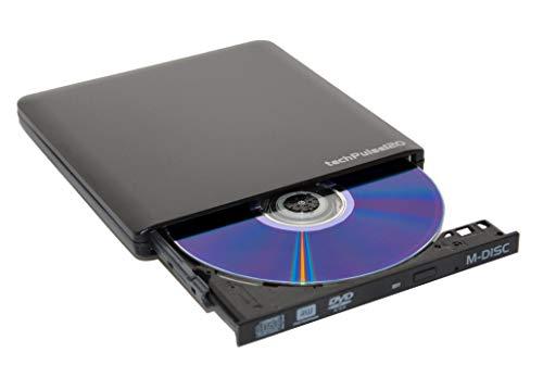 techPulse120 USB 3.0 & Type C M-Disc externer DVDRW CDRW Brenner Writer Alu Schwarz Burner