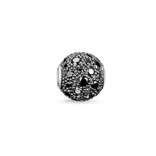 Thomas Sabo Damen-Bead KARMA Crushed Pavé 925 Silber Zirkonia schwarz - K0109-643-11