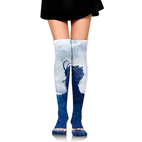 oat Yule Moon Night Country Roof Ankle Stockings Over The Knee Sexy Womens Sports Athletic Soccer Socks ()